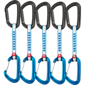 Ocun Hawk QD Combi DYN Cinta Express 11mm 10cm Pack de 5, blue